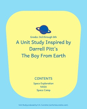 Unit Study: The Boy From Earth by Darrell Pitts