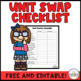 Unit Swap Checklist