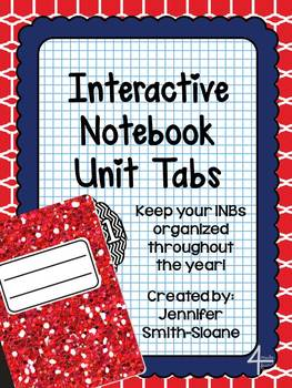 FREEBIE Unit Tabs for Interactive Notebooks (All Subjects)