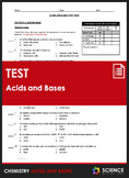 Unit Test - Acids and Bases