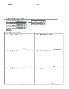 Chapter 1 Test - Analyze and Solve Linear Equations