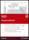 Unit Test - Chemical Bonds and Chemical Bonding