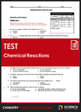 Unit Test - Chemical Reactions and Reaction Rates