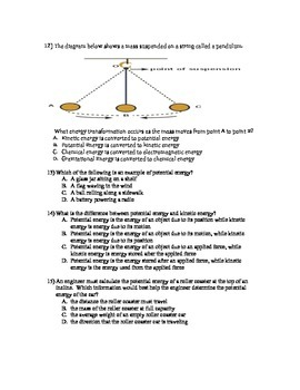 Unit Test-Classifying Energy and Simple Machines