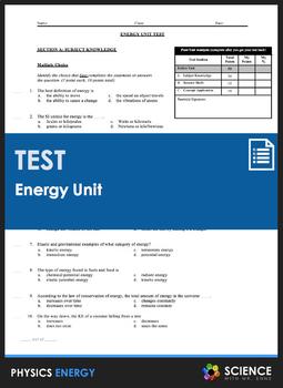 Unit Test - Energy