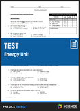 Unit Test - Energy