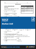 Unit Test - Motion and Speed