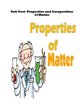 Unit Test- Properties and Composition of Matter
