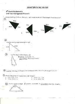 Unit Test:  Pythagorean Theorem