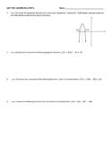 Unit Test- Quadratic Functions
