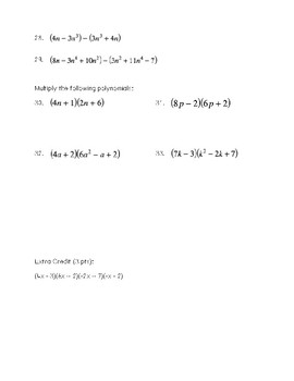 Unit Test: Radicals and Polynomials
