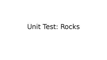 Unit Test: Rocks PPT Answer Key