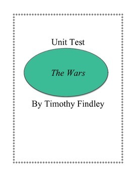 Unit Test - THE WARS by Timothy Findley