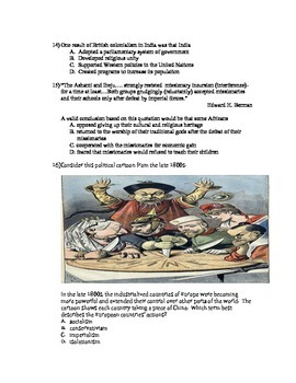Unit Test-The Industrial Revolution and Imperialism