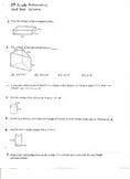 Unit Test:  Volume of Cylinders, Cones, and Spheres