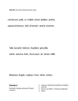 Unit Test for Vergil's Aeneid, Book I for AP Latin