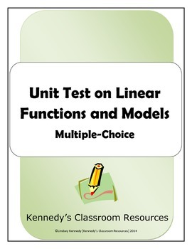 Unit Test on Linear Functions and Models