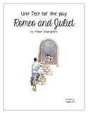 Unit Test with Answer Key for the play Romeo and Juliet by William Shakespeare