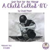 "Unit Test for the Memoir A Child Called ""IT"" (Answer Key Included)"