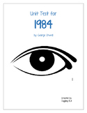 Unit Test with answers for the novel 1984 by George Orwell
