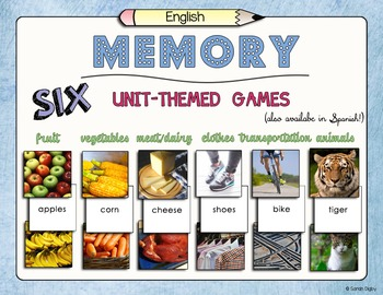 Unit-Themed Memory Games – Set of 6!