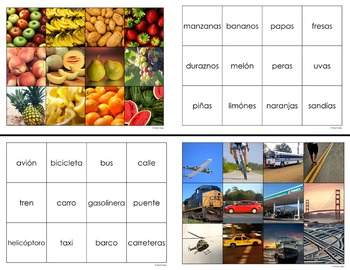 Unit-Themed Spanish Memory Games – Set of 6!