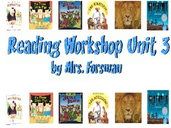 Unit Three First Grade Reading Workshop