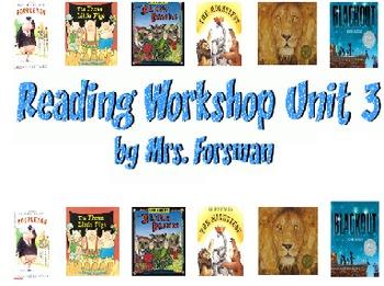 Unit Three First Grade Reading Workshop