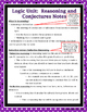 Proof - Logic - Unit 2: Proof & Logic #1: Reasoning & Conjectures Notes & Assig.