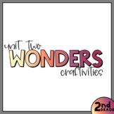 Unit Two - Second Grade Wonders 2020 - Craftivity Bundle