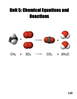 Unit V: Chemical Equations and Reactions Workbook