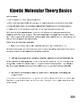Unit VIII: Kinetic Molecular Theory