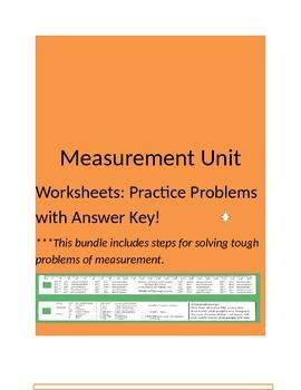 Unit Worksheets: Measurement Bundle