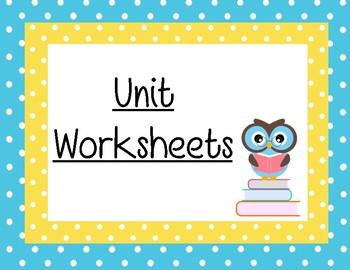 Unit Worksheets Sign Printable