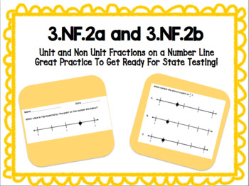 Unit and Non Unit Fractions On A Number Line 3.NF.2a & 3.NF.2b