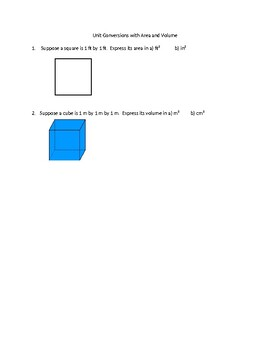 Unit conversions for area and volume