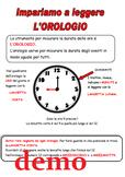 Unità didattica sull'orologio: impara a leggere l'ora, ese