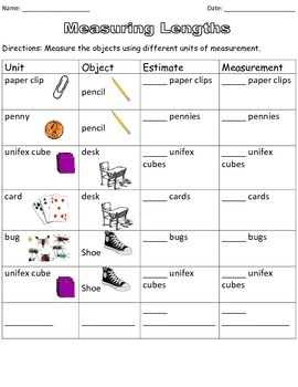 Unit of Measurement Worksheet