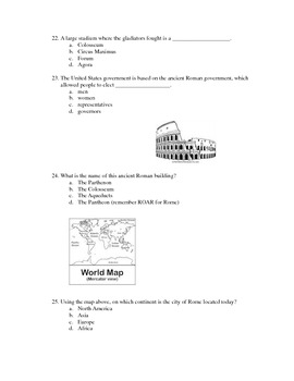 Unit on Ancient Rome for Elementary Students