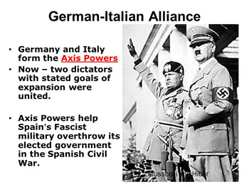 Unit on German & Italian Expansion (1933-1940) -Move To Global War (Part 2)
