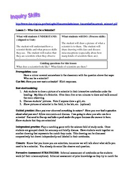 Unit on Inquiry and Science Process Skills