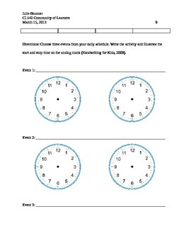 Unit on Time Measurement and Data