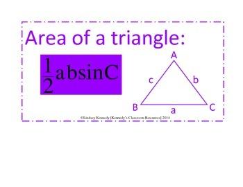 Trigonometry Unit - Word Wall