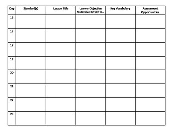 Unit or Lesson Plan Template