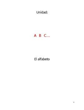 Unit plan and materials: Spanish alphabet