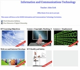 Unit plan for Effects of ICT and MOODLE Course