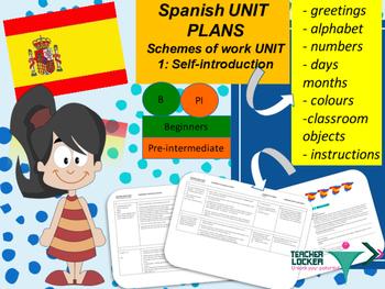 Spanish Unit plans introduction Unit 1 for beginners