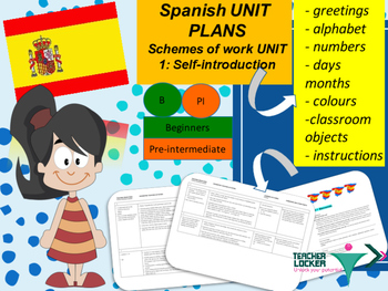 Spanish Unit plans introduction Unit 1 for beginners