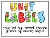 Unit/Theme Labels