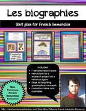 Unité - Les biographies (French Unit Plan - Biographies)
